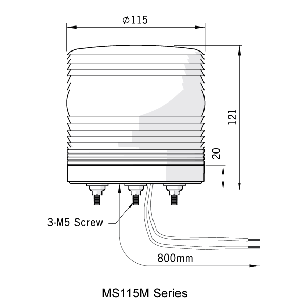 MS115M Dimensions
