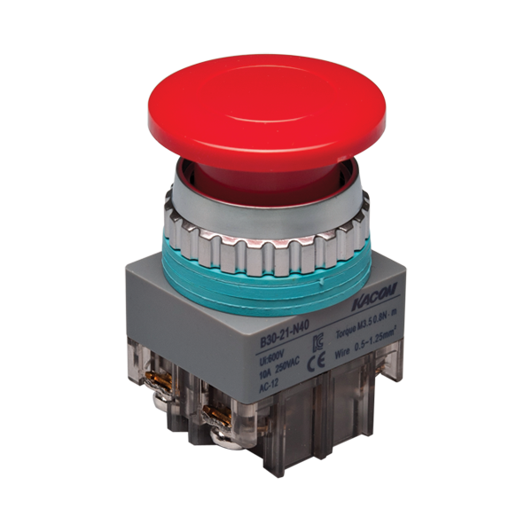 Ø40mm mushroom head push button