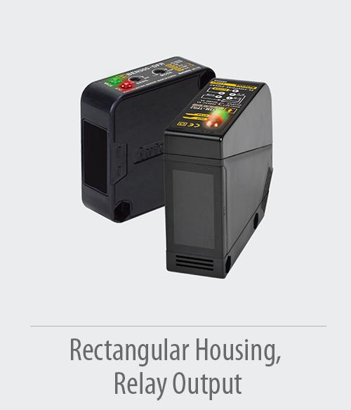 Rectangular-housing--Relay-output